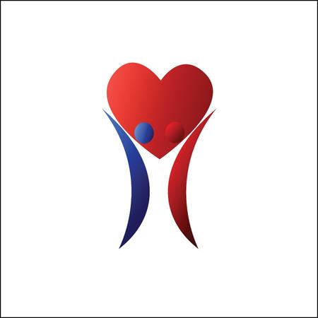 loving couple: Loving couple symbol Illustration