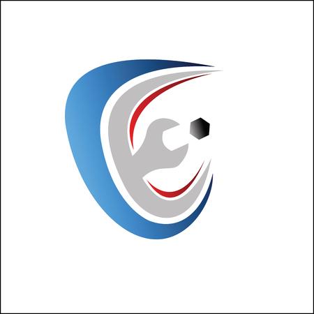 Service logo Vettoriali