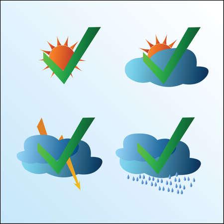 climatology: Weather symbol set