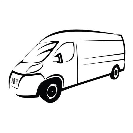 delivery driver: Van symbol