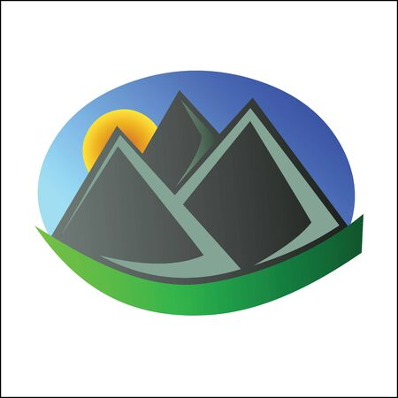 geological: Mountain logo 4