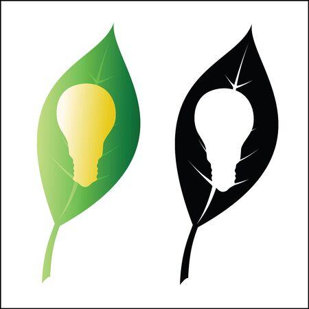eco energy: Eco energy symbol Illustration