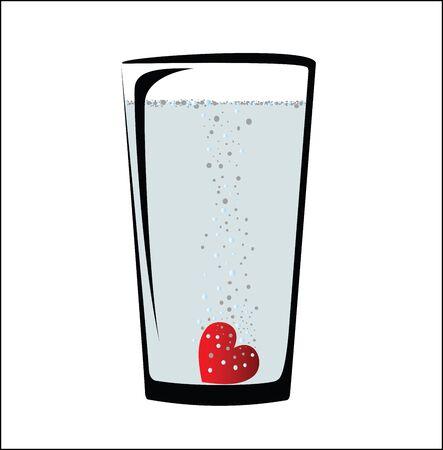 soluble: Soluble heart in jar