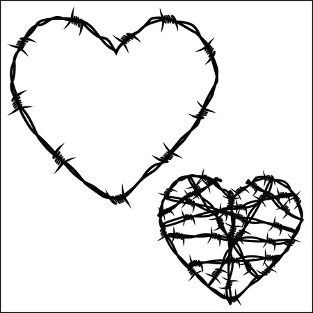Corazón del alambre de púas