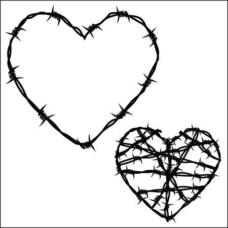 Herz aus Stacheldraht Standard-Bild - 43201687