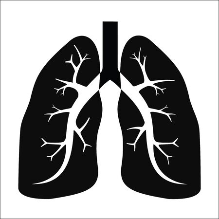 medical illustration: Human lung