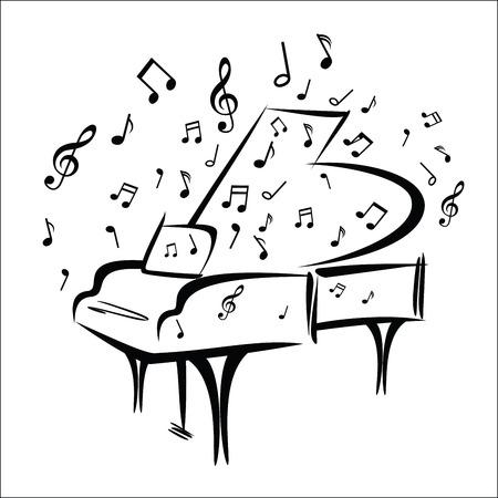 Piano sketch Stok Fotoğraf - 44161805