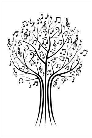 Rbol de la música Foto de archivo - 44161809