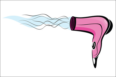 hair beauty: hair dryer Illustration