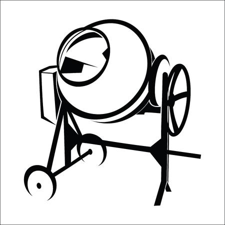 hormigonera  Ilustración de vector