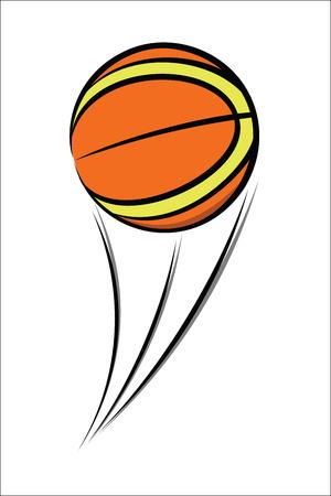 balon baloncesto: Esbozo de balón de baloncesto