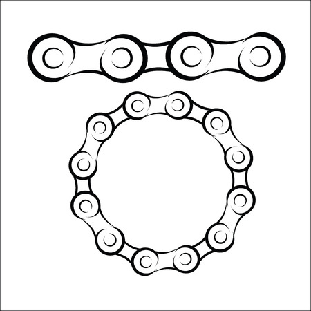 Bicycle chain sketch