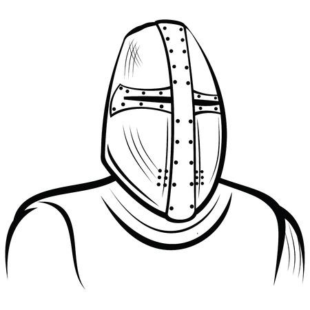Helmet of the medieval knight