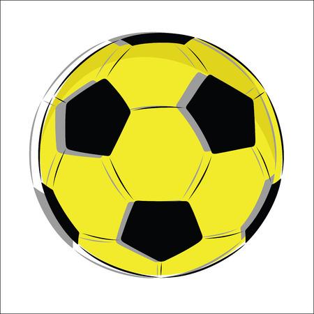 Vector Soccer ball Çizim