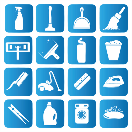 Cleaning icons set.