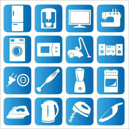 Household appliances icons set.