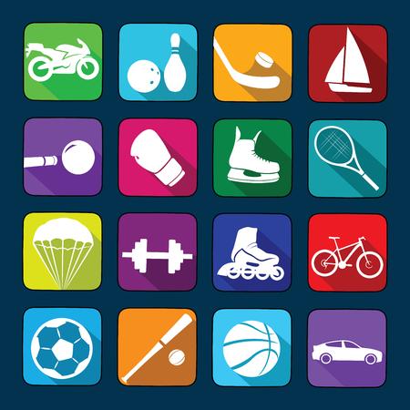 Sport icons set