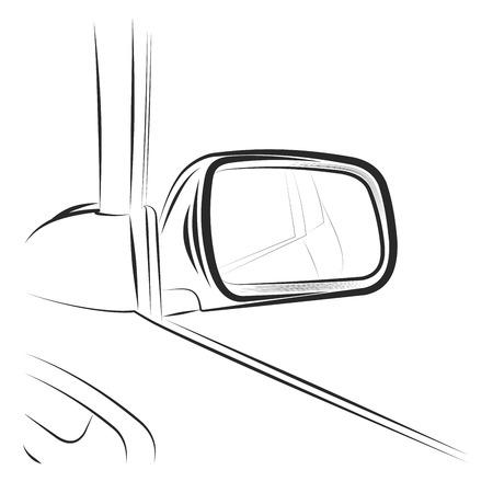 Rearview car mirror