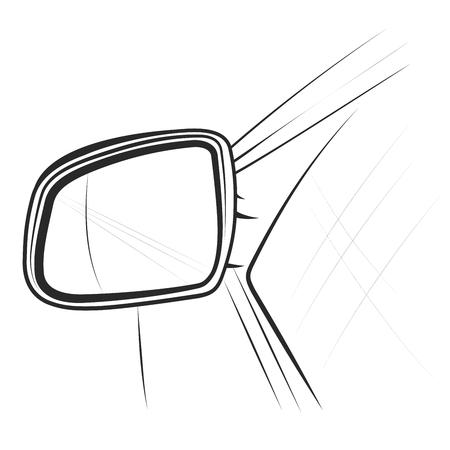 Lusterko wsteczne samochodu