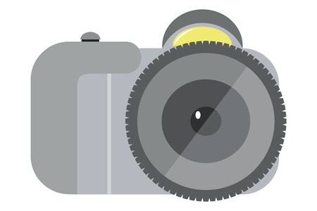 Camera .Vector cartoon illustration isolated on white background.