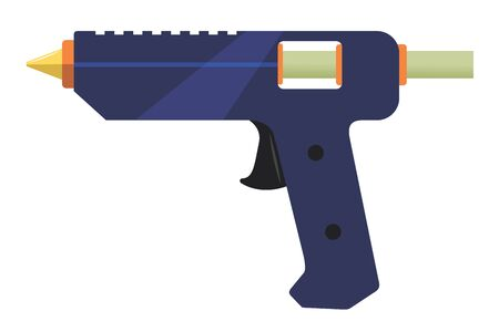 Electric glue gun.Vector cartoon illustration isolated on white background.