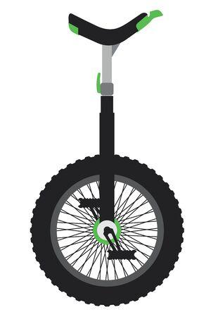 Unicycle.Vector cartoon illustration isolated on white background.
