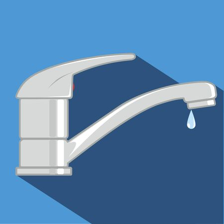 Water tap vector cartoon illustration.