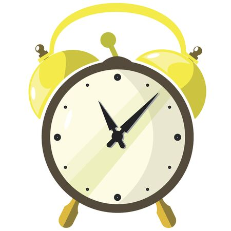 Alarm clock.Vector cartoon illustration isolated on white background. Vettoriali