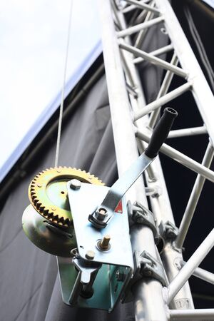 winch: Stage roof stack witch winch