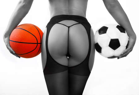 Young sexy girl with balls photo