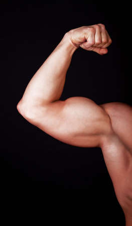 strongest: Picture of males arm showing muscles
