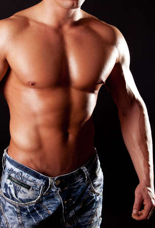 Picture of mans muscular body