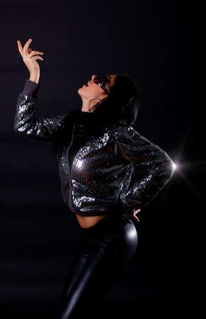 Attractive dancer in nightclub  photo