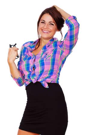 hot secretary: A young secretary is looking hot