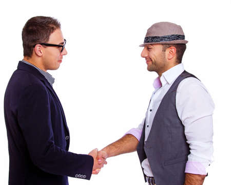 acquaintance: Picture of two men meeting each other