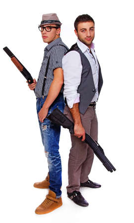 rifleman: Picture of two dangerous gunners