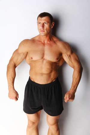 Image of muscular bodybuilder posing Stock Photo - 18492043