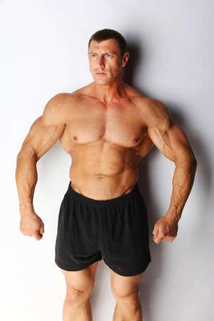 Image of muscular bodybuilder posing Stock Photo - 18492043