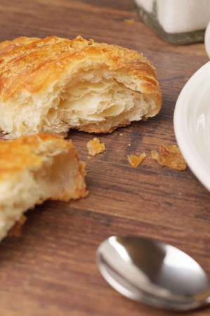 flaky: Flaky pieces of a croissant