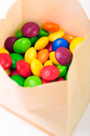 A lot of colorful candies in a bag photo