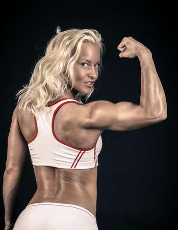 Strong woman in a sportsbra