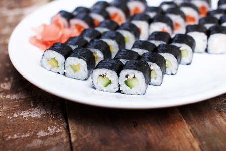 Collection of diet sushi sets photo
