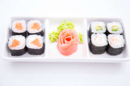 philadelphia roll: A plate of sushi for every taste Stock Photo