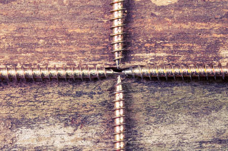essentially: Four screws dividing picture in quarters