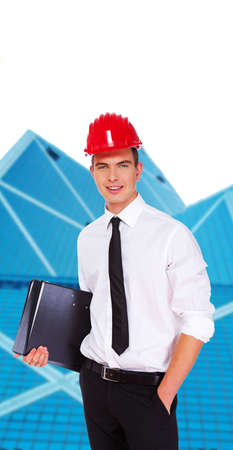 self confident: Image of self confident attractive businessman Stock Photo