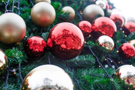 fake christmas tree: christmas -fake tree Stock Photo