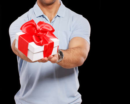 nice guy: Image of nice guy with a little present