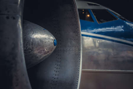 turbofan: Jet engine turbine airplane.