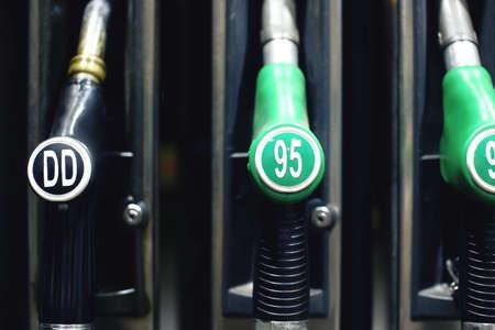 diesel: Black diesel fuel pistol.
