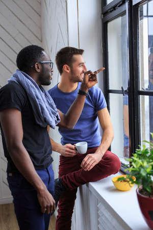 blackman: Conversation of two international students.